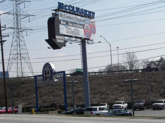 McCluskey Chevrolet @ I-75 and Galbraith Road, Exit 10B 1