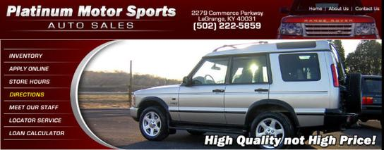 Platinum Motor Sports Auto Sales