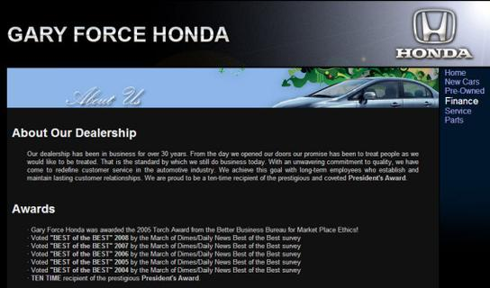 Gary Force Honda 1