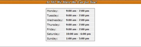 502 Motoring, LLC car dealership in Louisville, KY 40243 | Kelley Blue Book