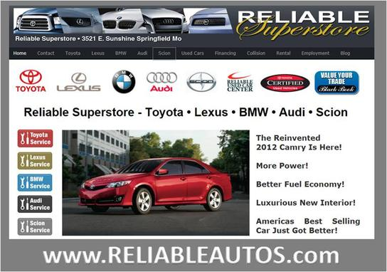 Reliable Superstore Car Dealership In Springfield, MO 65809 | Kelley Blue  Book