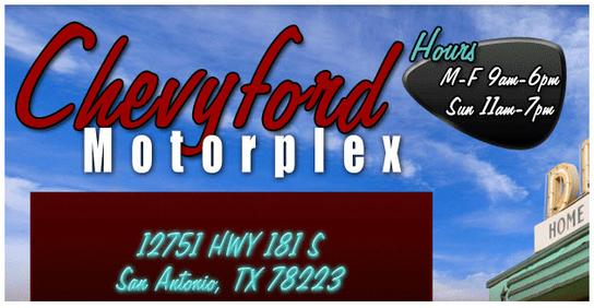 chevy ford motorplex car dealership in san antonio tx 78223 kelley blue book. Black Bedroom Furniture Sets. Home Design Ideas
