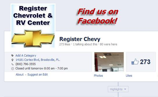 Register Chevrolet & RV Center 2