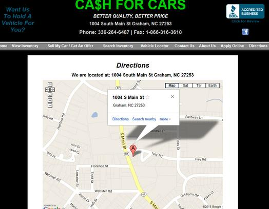 Cash for Cars - NC 1