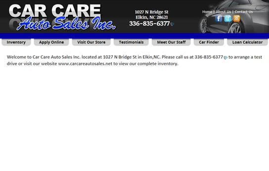 CAR CARE AUTO SALES INC 1