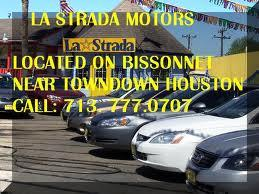 la strada motors car dealership in houston tx 77074