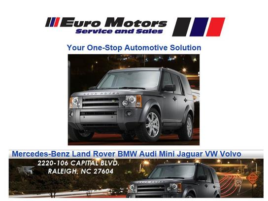 Euro Motors Service and Sales