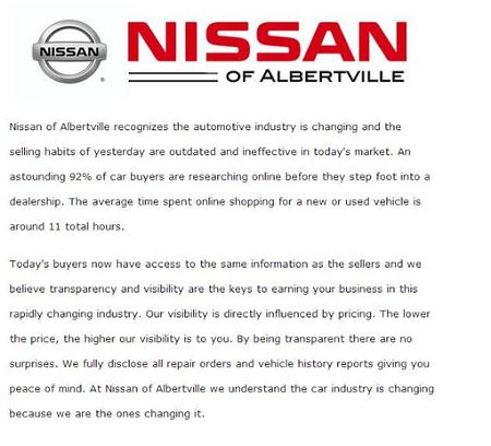 Team One NIssan of Albertville 1