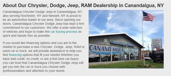 Canandaigua Chrysler Dodge Jeep RAM Car Dealership In Canandaigua, NY 14424  | Kelley Blue Book