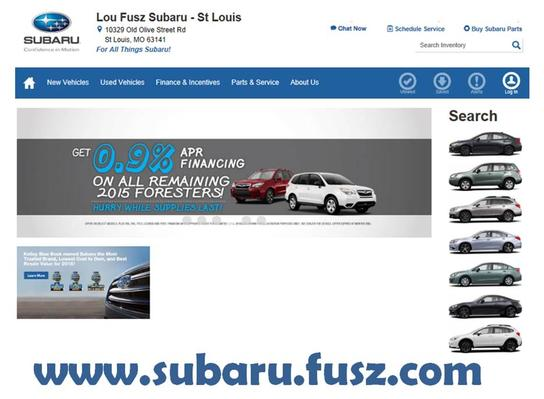 lou fusz subaru of st louis car dealership in creve coeur mo 63141 kelley blue book. Black Bedroom Furniture Sets. Home Design Ideas