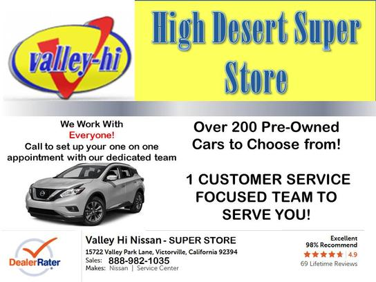 Valley Hi Nissan >> Valley Hi Nissan Car Dealership In Victorville Ca 92394