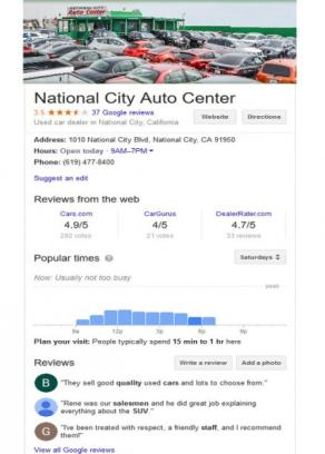 National City Auto Center car dealership in National City