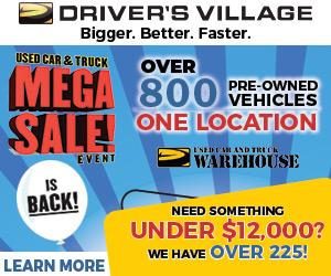 drivers village used cars warehouse