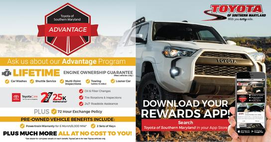 Toyota Of Southern Maryland >> Car Dealership Specials At Toyota Of Southern Maryland In