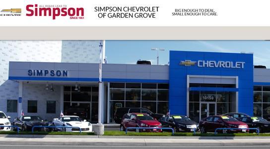 Simpson Chevrolet Of Garden Grove Car Dealership In Garden Grove Ca 92843 Kelley Blue Book